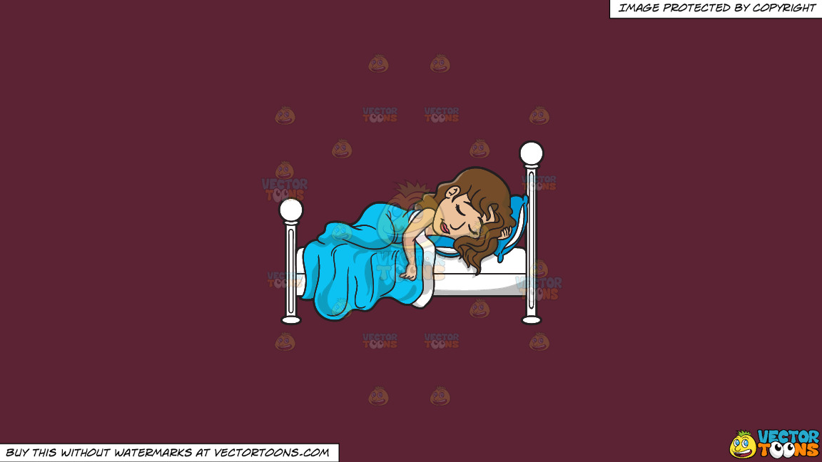 A Pretty Woman Sleeping So Well On A Solid Red Wine 5b2333 Background thumbnail