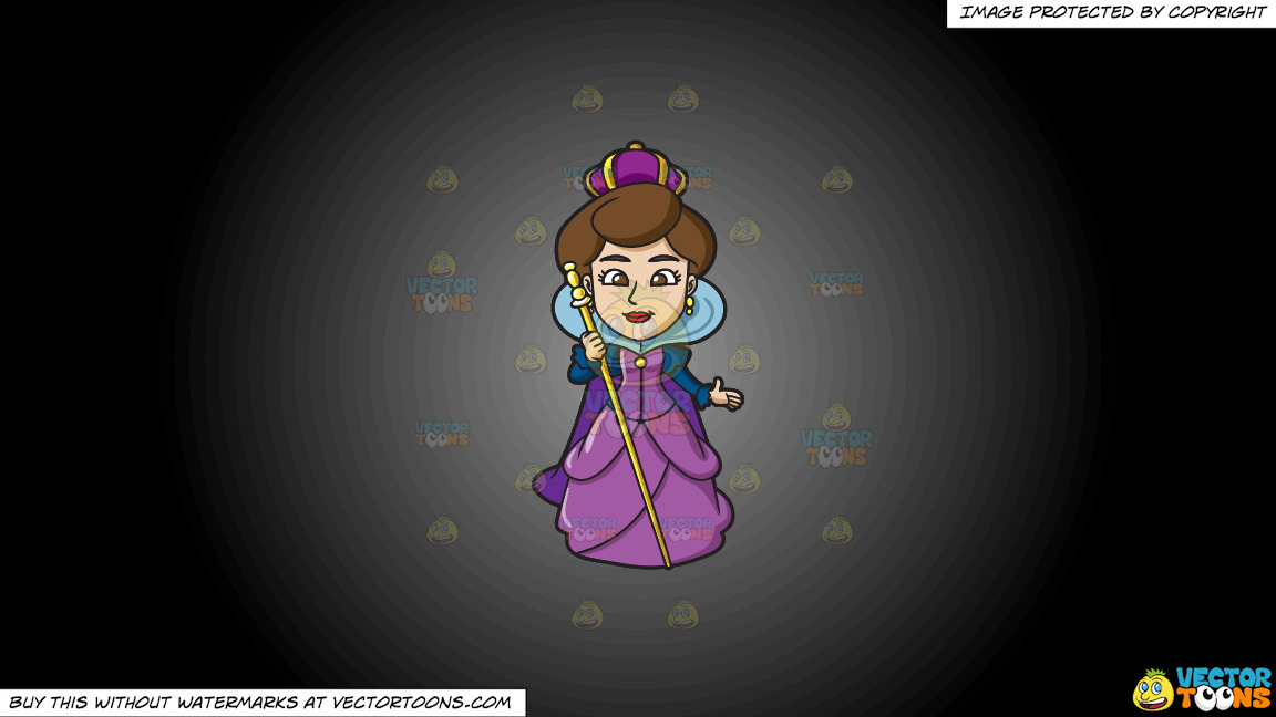 A Royal Queen On A Grey And Black Gradient Background thumbnail