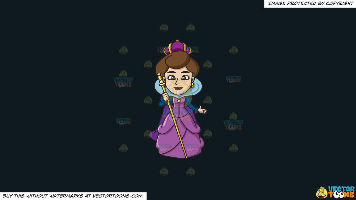 A Royal Queen On A Solid Off Black 0f1a20 Background thumbnail