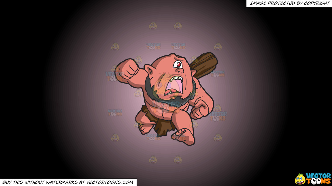 A Running Cyclops On A Pink And Black Gradient Background thumbnail