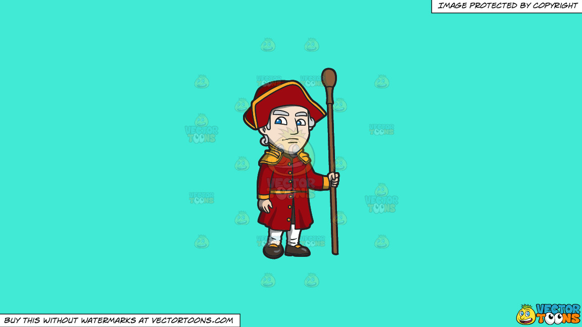 A Saxon Policeman On A Solid Turquiose 41ead4 Background thumbnail