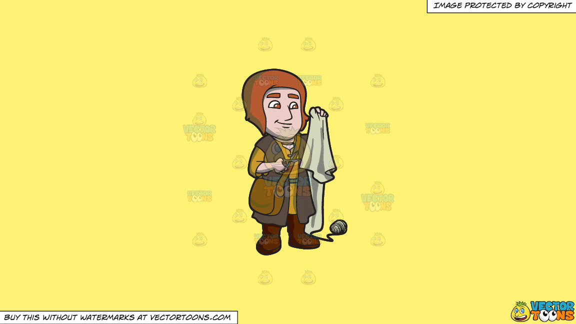 A Saxon Tailor On A Solid Sunny Yellow Fff275 Background thumbnail