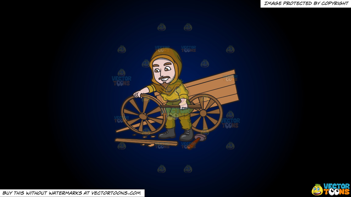 A Saxon Wagon Builder On A Dark Blue And Black Gradient Background thumbnail