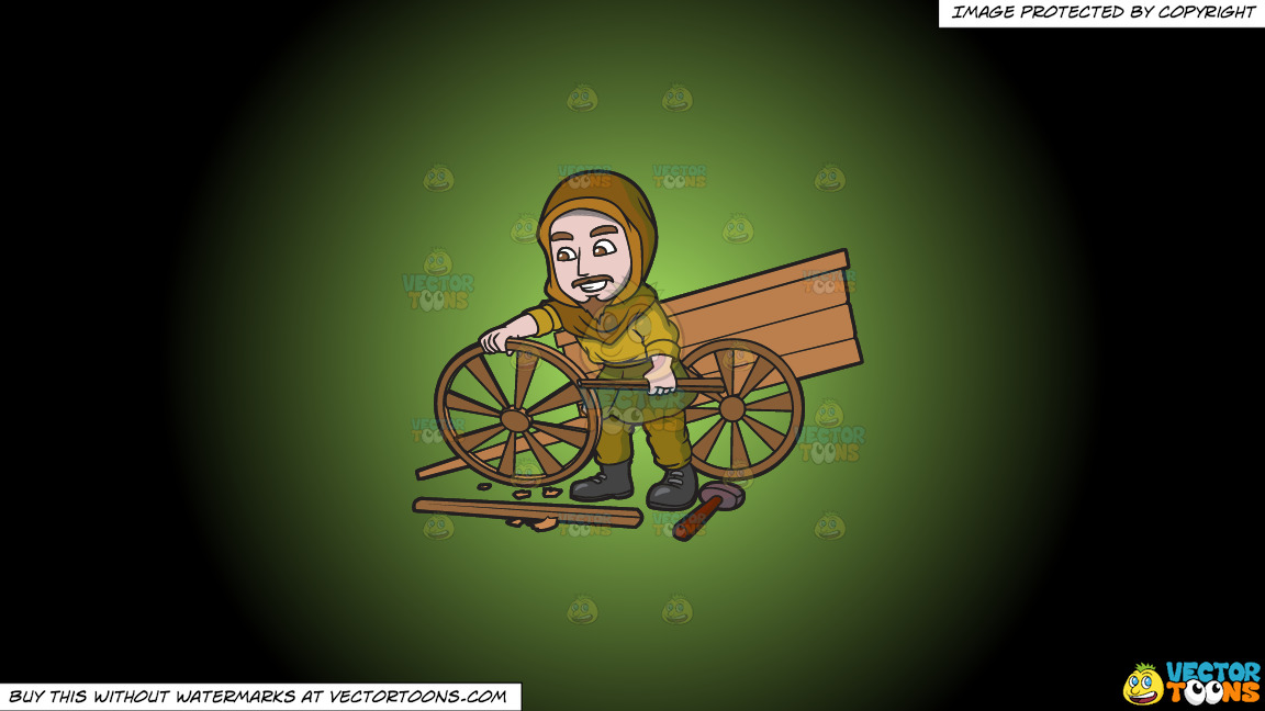 A Saxon Wagon Builder On A Green And Black Gradient Background thumbnail