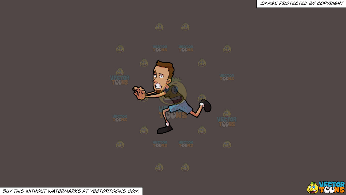 A Scared Man Running Away From Something On A Solid Quartz 504746 Background thumbnail