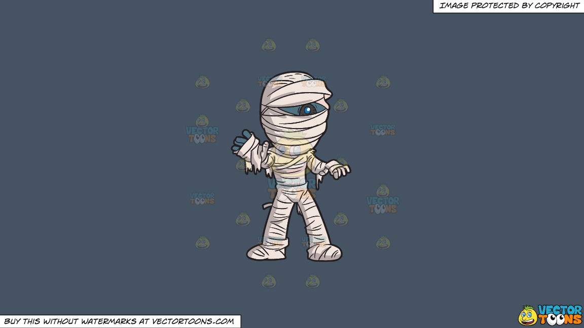A Scary Mummy On A Solid Metal Grey 465362 Background thumbnail