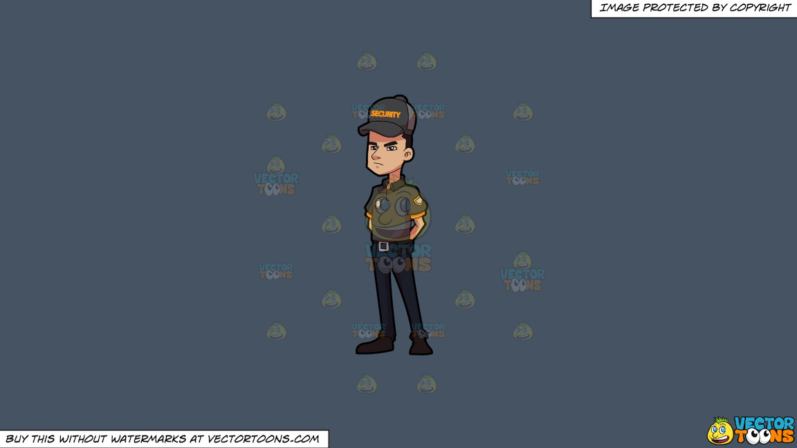 A Security Guard At Ease On A Solid Metal Grey 465362 Background thumbnail