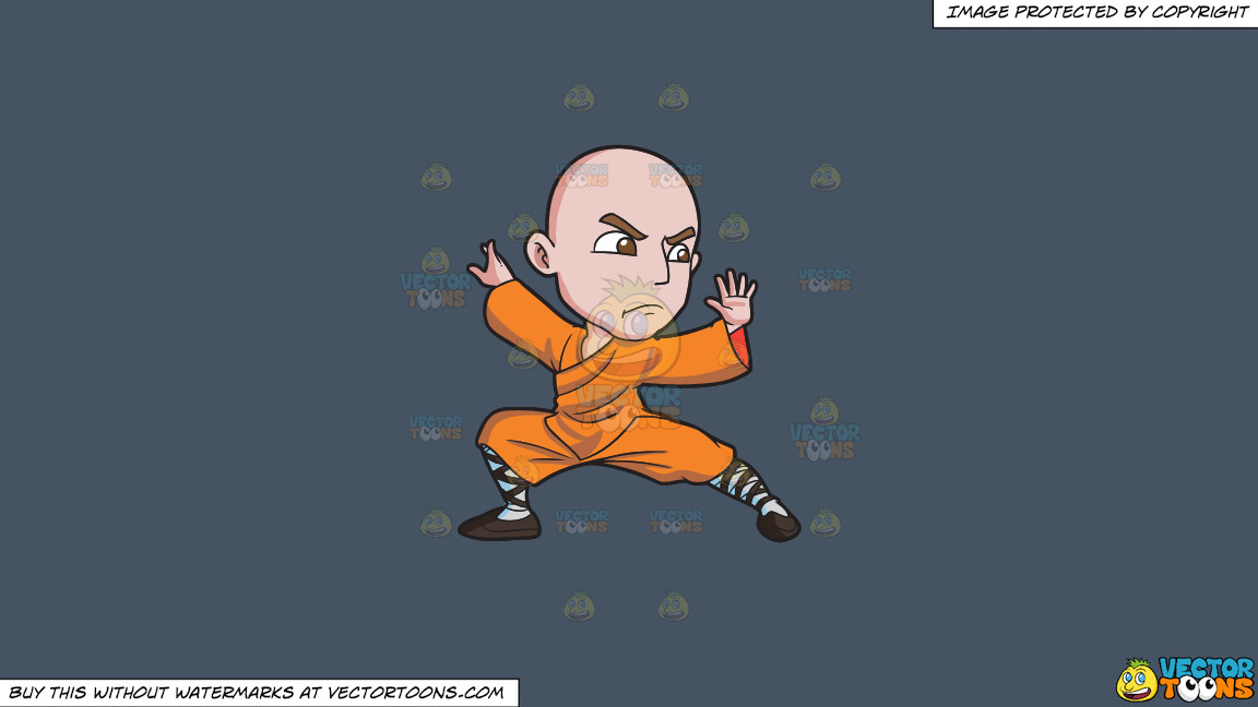 A Shaolin Man Doing A Kung Fu Stance On A Solid Metal Grey 465362 Background thumbnail
