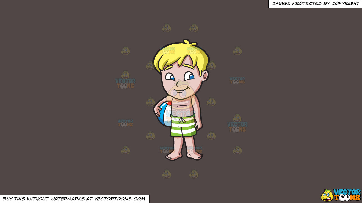 A Shy Boy Carrying A Beach Ball On A Solid Quartz 504746 Background thumbnail