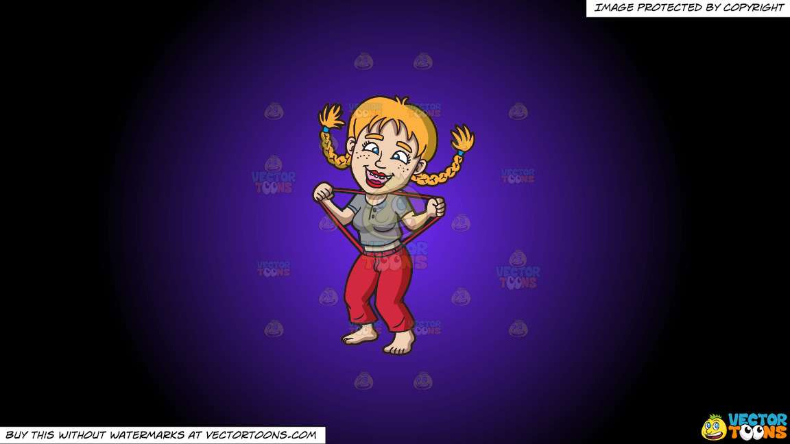 A Silly Yokel Girl On A Purple And Black Gradient Background thumbnail