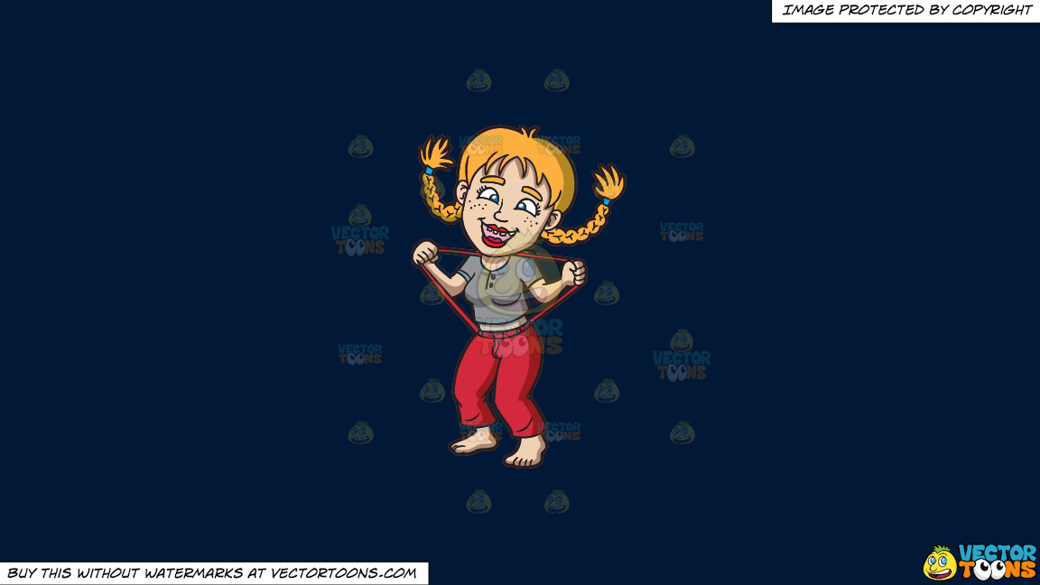 A Silly Yokel Girl On A Solid Dark Blue 011936 Background thumbnail