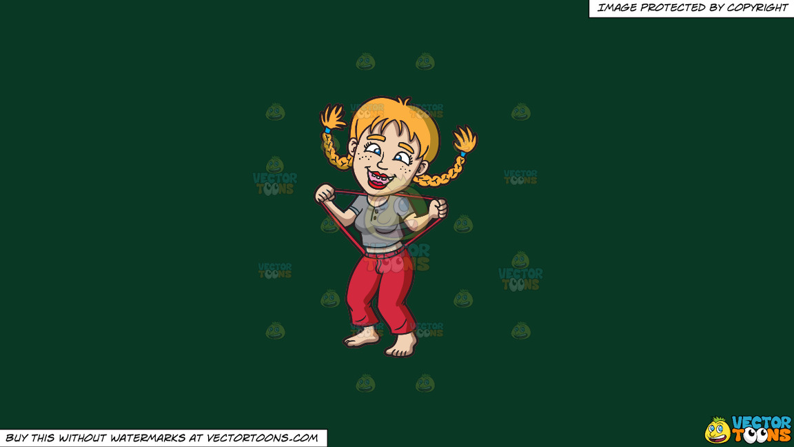 A Silly Yokel Girl On A Solid Dark Green 093824 Background thumbnail