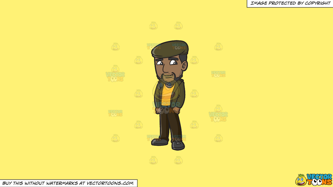 A Smiling Rude Boy On A Solid Sunny Yellow Fff275 Background thumbnail