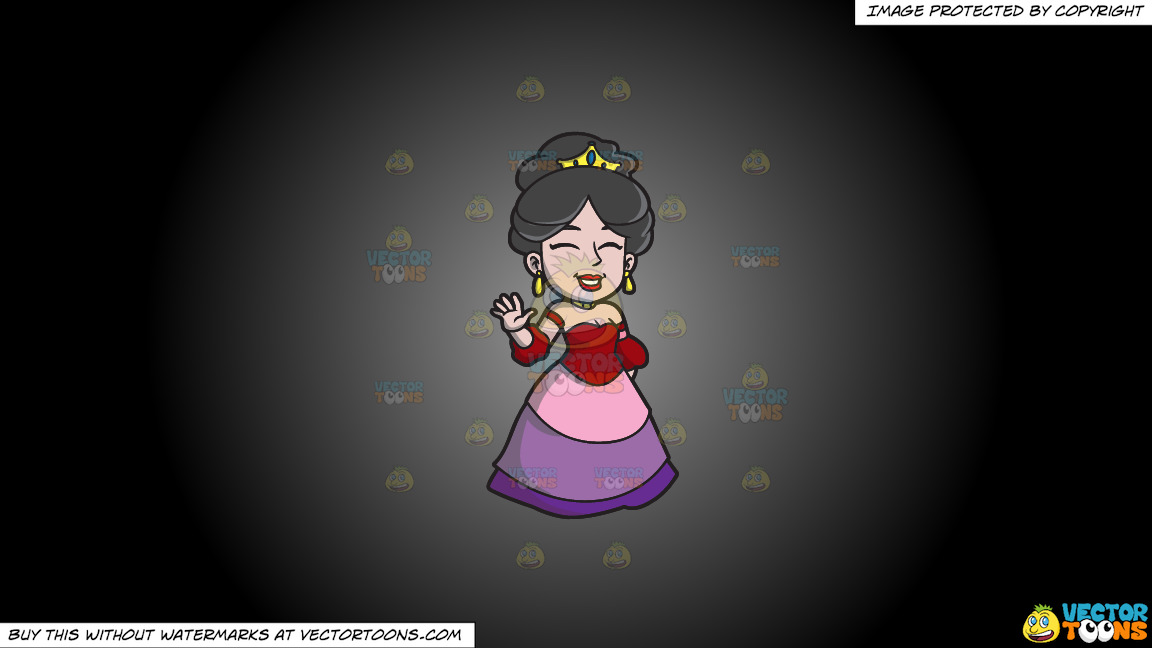 A Spanish Princess On A Grey And Black Gradient Background thumbnail