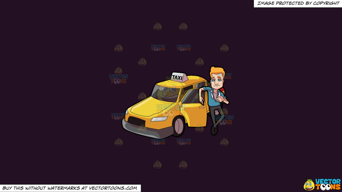 A Suave Taxi Driver On A Solid Purple Rasin 241023 Background thumbnail