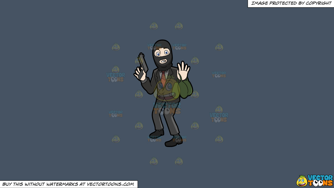 A Surprised Robber Being Caught In The Act On A Solid Metal Grey 465362 Background thumbnail