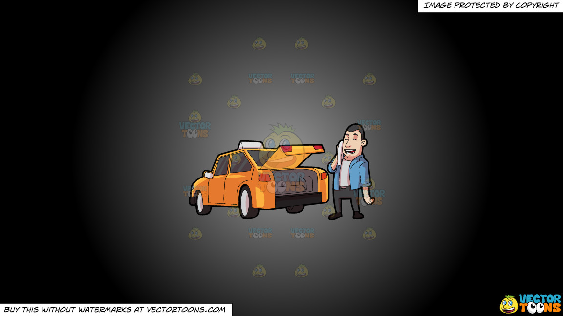 A Taxi Driver Wiping Off His Sweat On A Grey And Black Gradient Background thumbnail