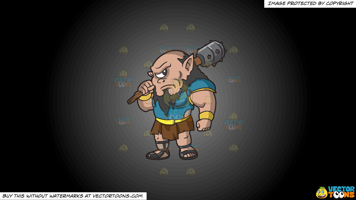 A Tough Cyclops On A Grey And Black Gradient Background thumbnail