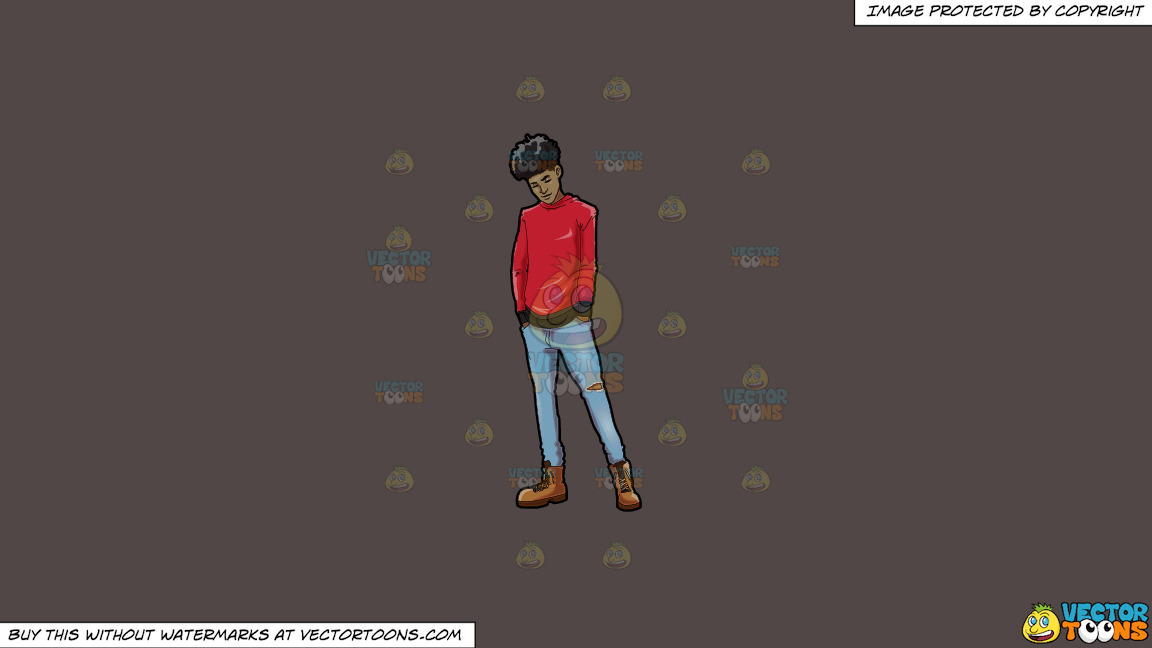 A Trendy Chilled Out Black Guy On A Solid Quartz 504746 Background thumbnail
