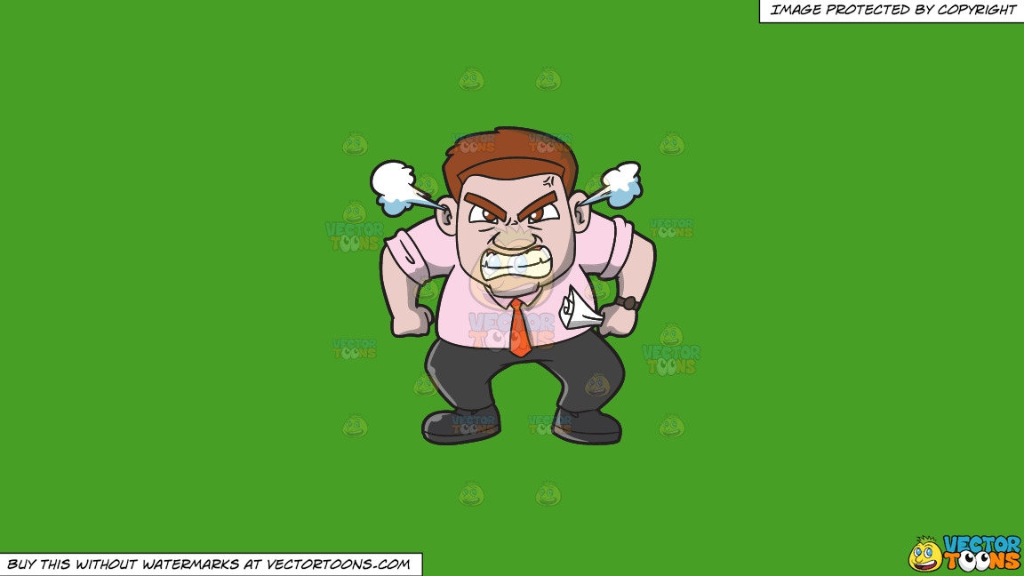 A Very Furious Man Crushing A Piece Of Paper In His Hand On A Solid Kelly Green 47a025 Background thumbnail