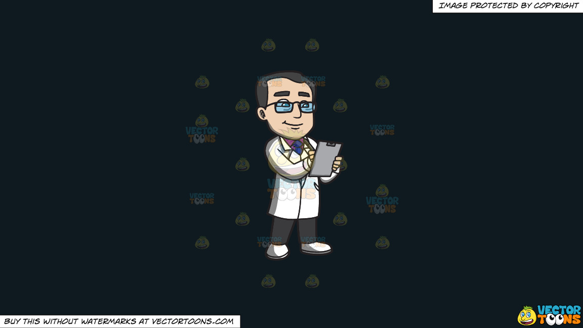 A Veteran Doctor Writing His Diagnosis On A Solid Off Black 0f1a20 Background thumbnail