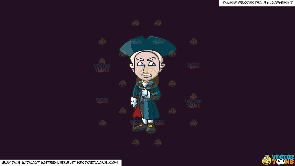 A Well Dressed Colonial Man On A Solid Purple Rasin 241023 Background thumbnail