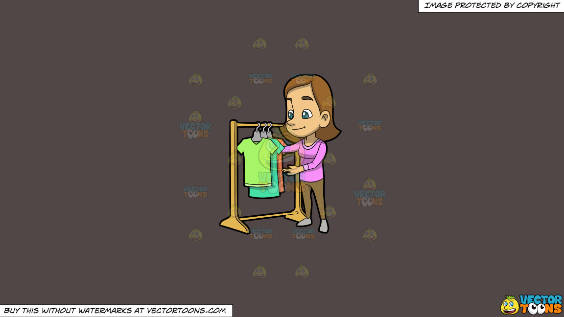 A Woman Checking The Shirt Rack On Sale On A Solid Quartz 504746 Background thumbnail
