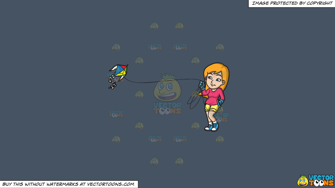 A Woman Controlling Her Kite In The Air On A Solid Metal Grey 465362 Background thumbnail