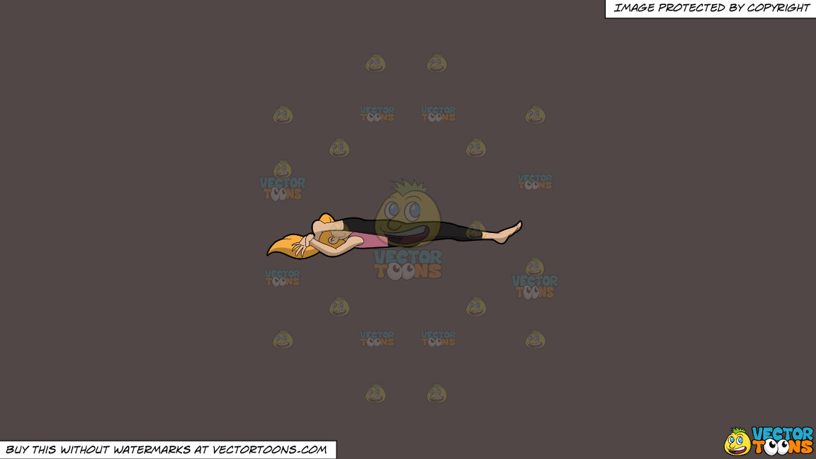 A Woman Doing The Reclining Splits Yoga Pose On A Solid Quartz 504746 Background thumbnail