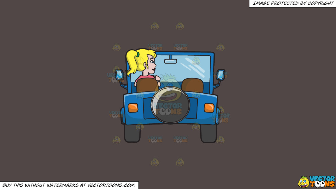 A Woman Driving A Blue Jeep On A Solid Quartz 504746 Background thumbnail