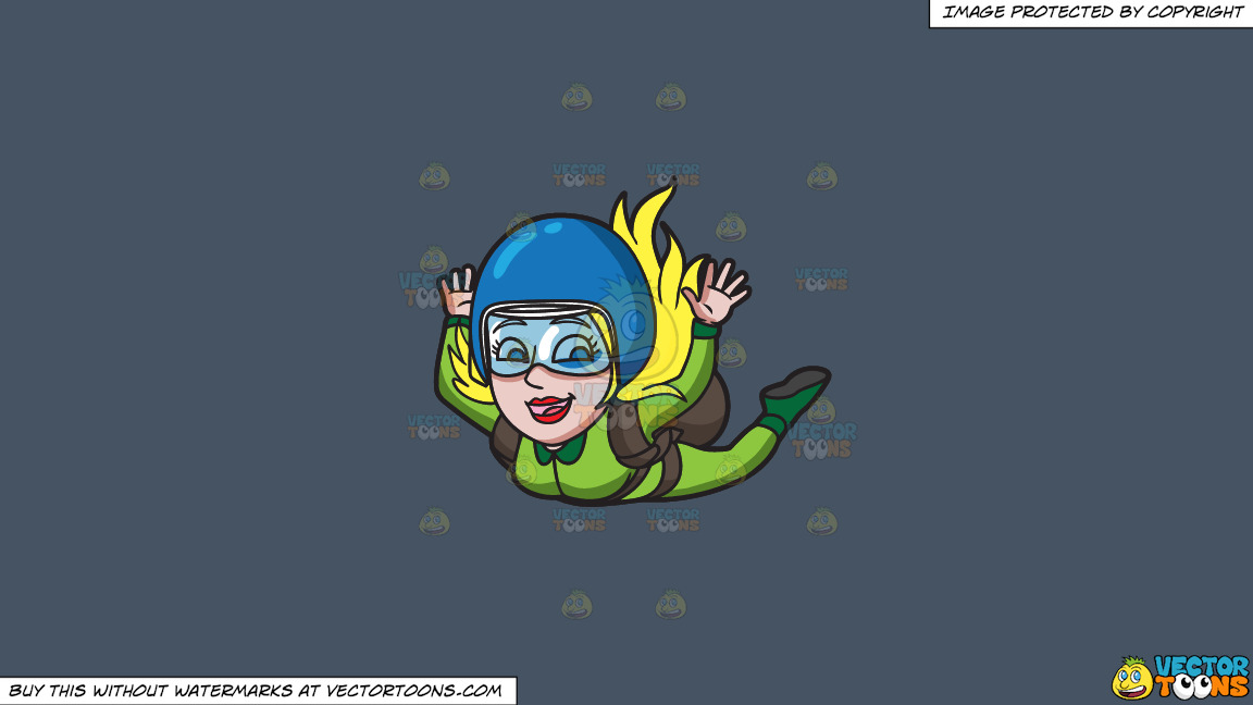 A Woman Enjoying Her Skydive On A Solid Metal Grey 465362 Background thumbnail