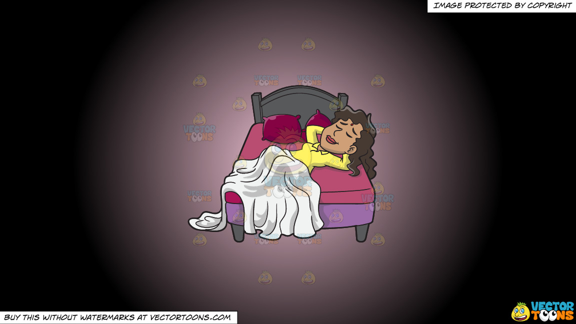 A Woman Sleeping Soundly On A Pink And Black Gradient Background thumbnail