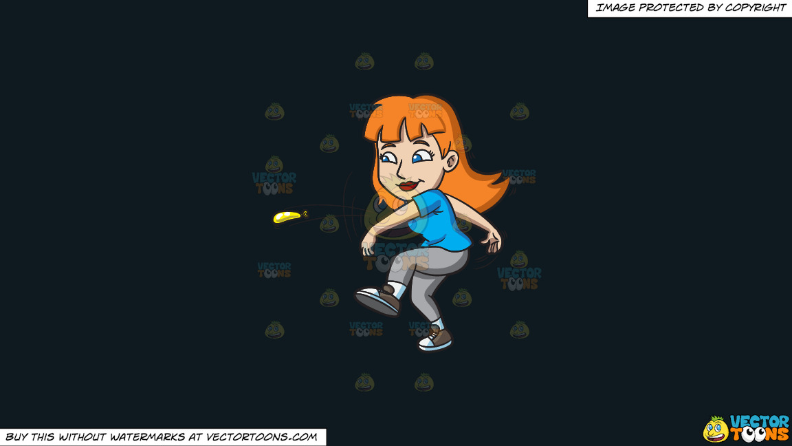 A Woman Swiftly Throws A Small Water Balloon On A Solid Off Black 0f1a20 Background thumbnail
