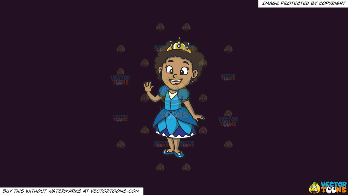 A Young Black Princess On A Solid Purple Rasin 241023 Background thumbnail