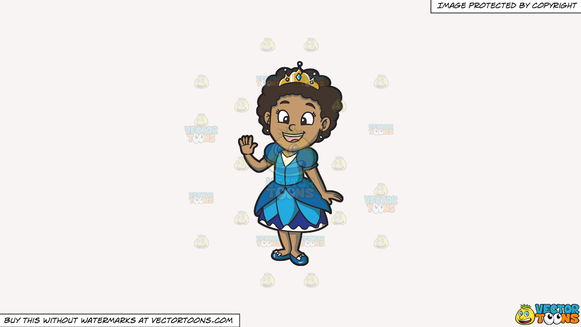 A Young Black Princess On A Solid White Smoke F7f4f3 Background thumbnail
