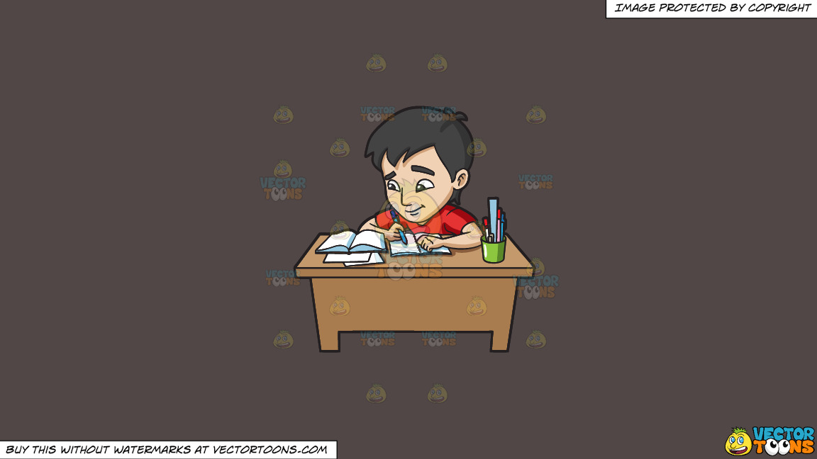 A Young Man Studying Happily For His Exam On A Solid Quartz 504746 Background thumbnail