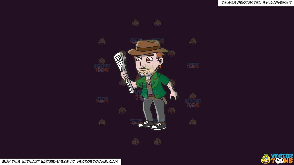 An Addicted Gambler Down On His Luck On A Solid Purple Rasin 241023 Background thumbnail