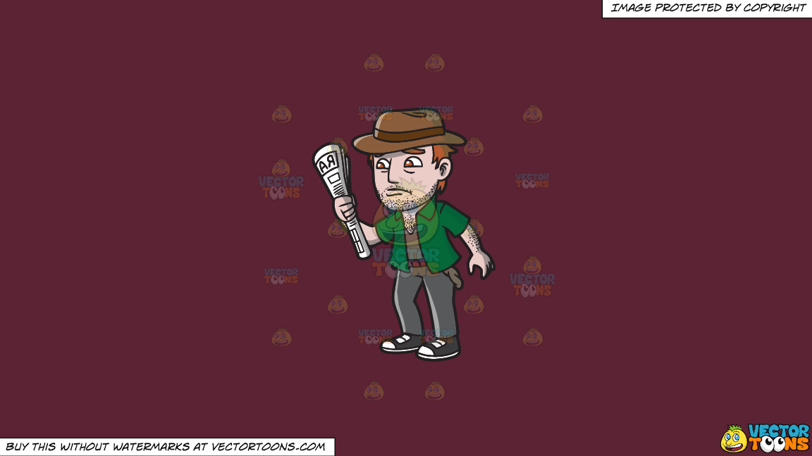 An Addicted Gambler Down On His Luck On A Solid Red Wine 5b2333 Background thumbnail