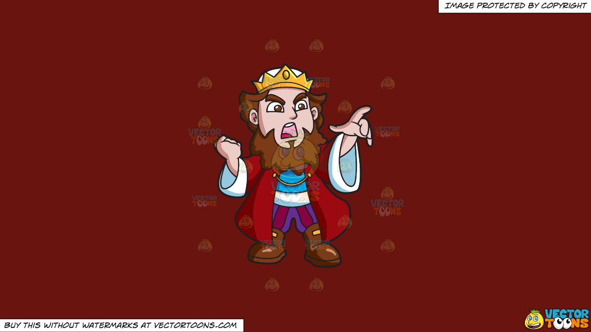 An Angry King On A Solid Maroon 69140e Background thumbnail