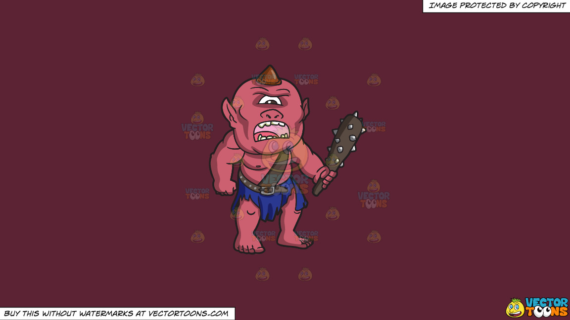 An Angry Looking Cyclops On A Solid Red Wine 5b2333 Background thumbnail
