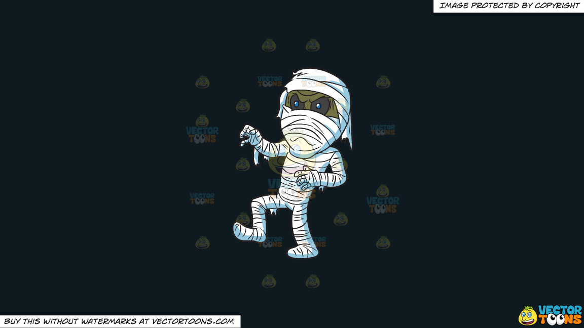 An Angry Mummy On A Solid Off Black 0f1a20 Background thumbnail