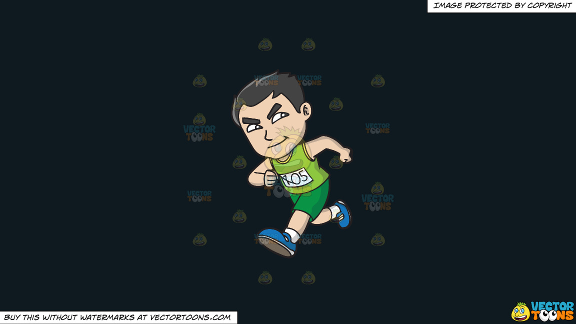 An Asian Guy Running A Marathon On A Solid Off Black 0f1a20 Background thumbnail