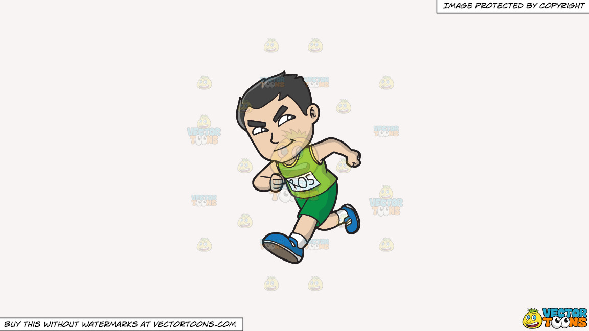 An Asian Guy Running A Marathon On A Solid White Smoke F7f4f3 Background thumbnail
