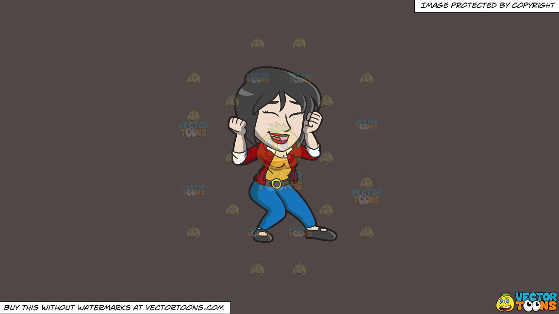 An Ecstatic Chinese Woman On A Solid Quartz 504746 Background thumbnail