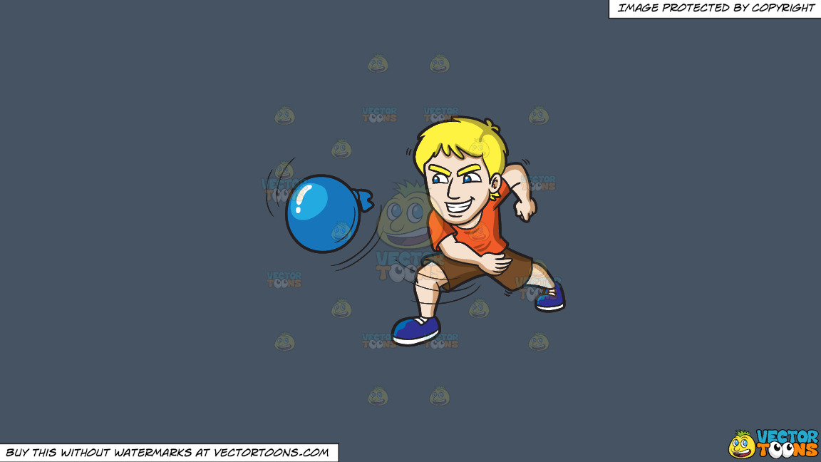 An Ecstatic Man Throwing A Water Balloon On A Solid Metal Grey 465362 Background thumbnail