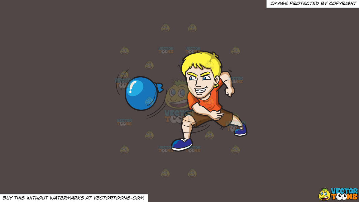 An Ecstatic Man Throwing A Water Balloon On A Solid Quartz 504746 Background thumbnail
