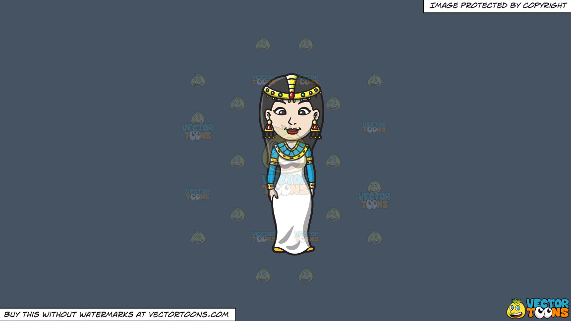 An Egyptian Princess On A Solid Metal Grey 465362 Background thumbnail