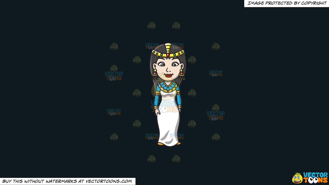 An Egyptian Princess On A Solid Off Black 0f1a20 Background thumbnail