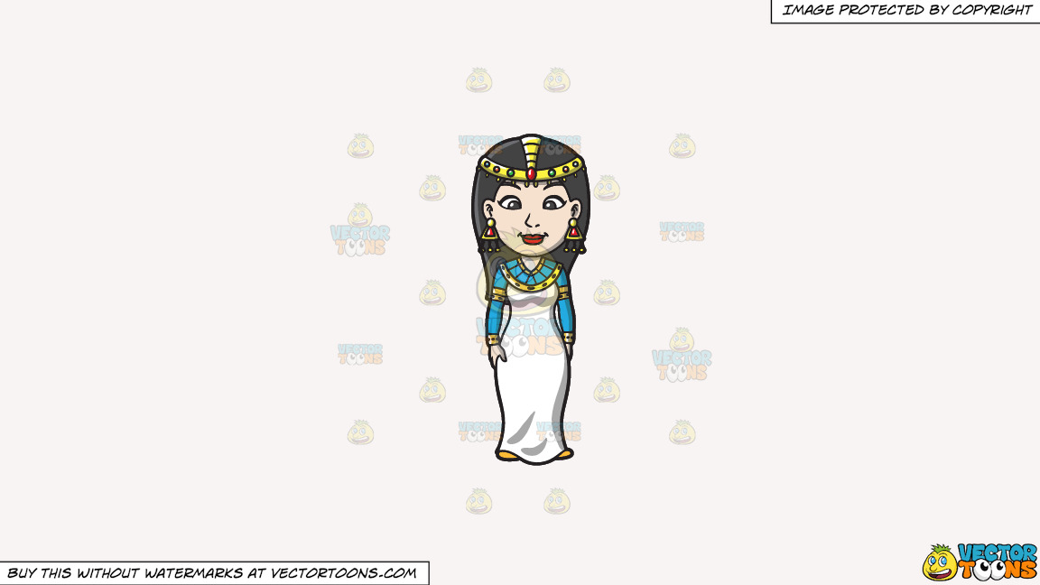 An Egyptian Princess On A Solid White Smoke F7f4f3 Background thumbnail