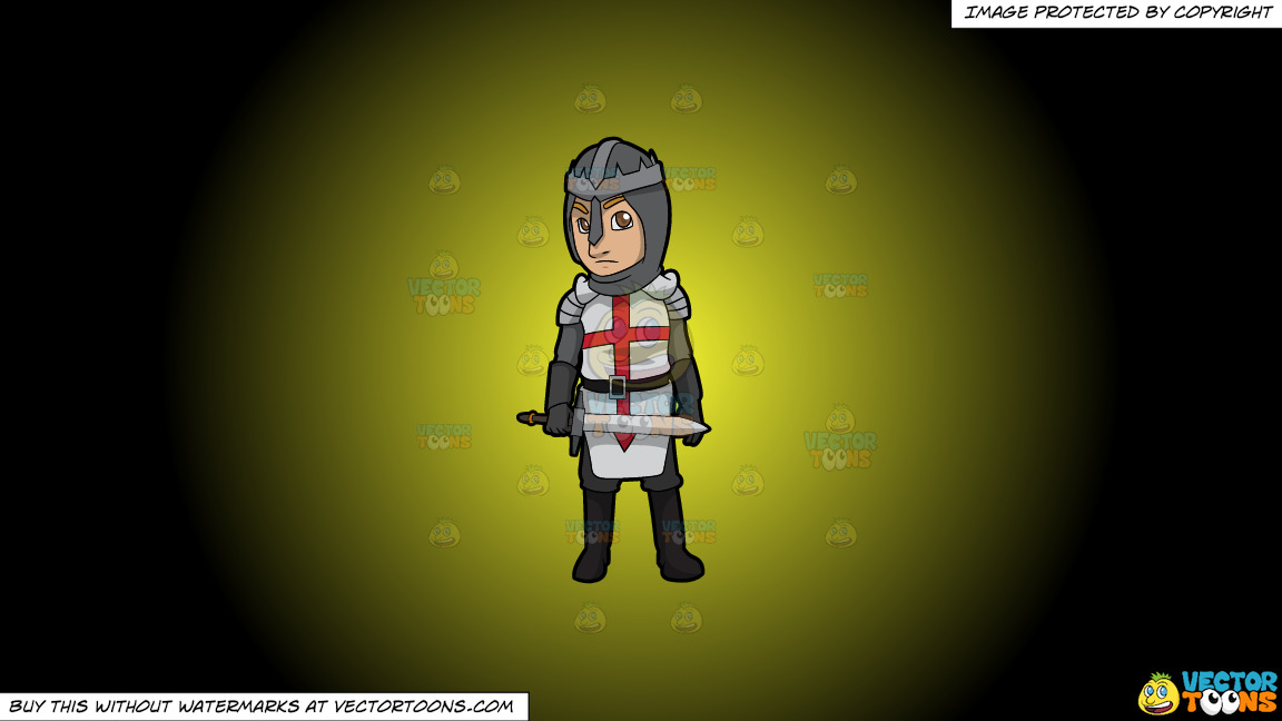 An English Knight On A Yellow And Black Gradient Background thumbnail